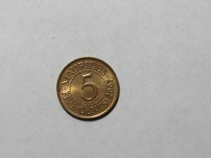 MAURITIUS COIN   2007 5 CENTS   CIRCULATED SPOTS