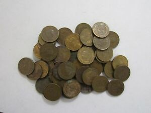 LOT OF 50 OLD MEXICO 1976 5 CENTAVO COINS   CIRCULATED