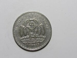 MAURITIUS COIN   2009 5 RUPEES   CIRCULATED