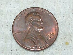 1883 D LINCOLN CENT ERROR COIN DIE CRACK THRU DATE AND MINT MARK