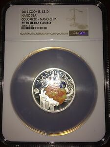 Click now to see the BUY IT NOW Price! 2013 COOK ISLANDS SILVER $10   NANO SPACE   2 NGC ERRORS   PF70 UC   NGC COIN