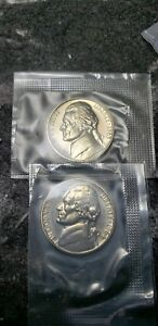1963 AND 1964 JEFFERSON NICKELS MINT PROOF FROM ORIGINAL U.S. PROOF SET FREE S/H