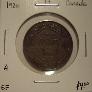 A CANADA GEORGE V 1920 LARGE CENT   EF