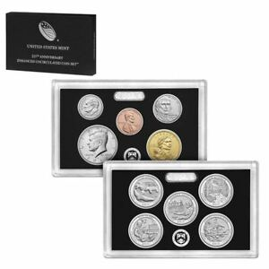 2017 225TH ANNIVERSARY ENHANCED UNCIRCULATED COIN SET OF 10 WITH BOX AND COA