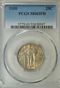 1930 STANDING LIBERTY QUARTER PCGS MS63 FH
