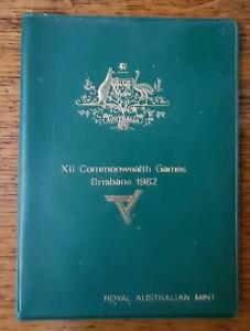 RAM 1982 COMMONWEALTH GAMES AUSTRALIA COIN SET GREEN WALLET YUCKY STICKY