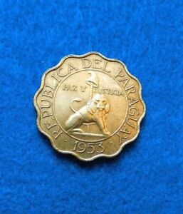 1953 PARAGUAY 25 CENTIMOS   FANTASTIC COIN