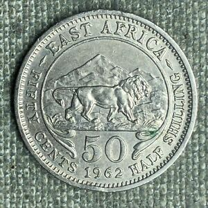 EAST AFRICA 50 CENTS / 1/2 SHILLING 1962   02374