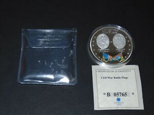 OUR HEROES & OUR FLAGS GRANT/LEE PROOF COIN   CIVIL WAR AMERICAN MINT