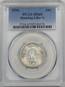 Click now to see the BUY IT NOW Price! 1916 STANDING LIBERTY QUARTER PCGS MS 65