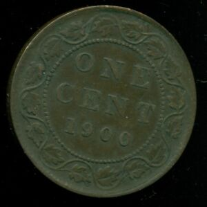 1900H CANADA LARGE CENT QUEEN VICTORIA   PP92