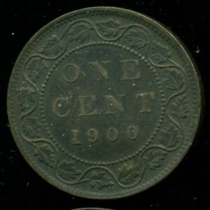 1900H CANADA LARGE CENT QUEEN VICTORIA   PP126