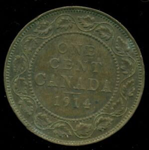 1914 CANADA LARGE CENT KING GEORGE V  PE53
