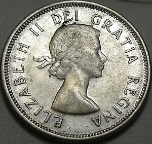 1960 25C CANADA 25 CENTS SILVER CANADIAN QUARTER SILVER 9181