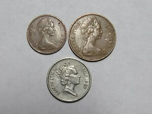 LOT OF 3 DIFFERENT FIJI COINS   1969 TO 1987   CIRCULATED