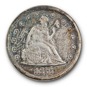 1875 S TWENTY CENT PIECE ABOUT UNCIRCULATED TO MINT STATE TYPE COIN 2724