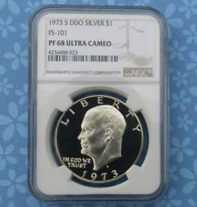 1973 NGC FS 101 PF68 ULTRA CAMEO DDO SILVER PROOF DOUBLE DIE OBVERSE  TOP NOTCH