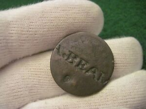 1808 1814 CLASSIC HEAD LARGE CENT COUNTER STAMPED A. BEAM