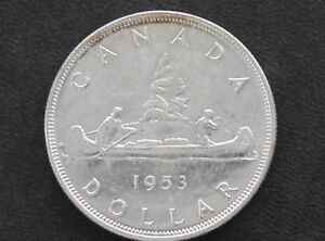 Click now to see the BUY IT NOW Price! 1953 BU CANADA SILVER DOLLAR NSF ELIZABETH II CANADIAN COIN D7125
