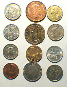 12 DIFFERRENT WORLD COINS LOT OF  12