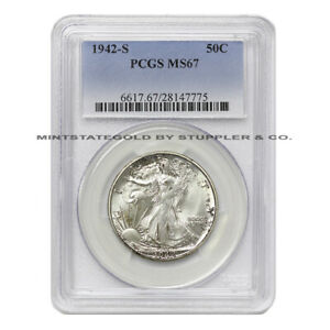 Click now to see the BUY IT NOW Price! ULTRA  1942 S 50C WALKING LIBERTY PCGS MS67 GEM SILVER HALF DOLLAR COIN