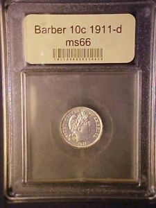 1911 D BARBER DIME GORGEOUS CH/GEM BU  GREAT COLLECTOR COIN   AA350UXCXX