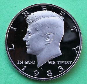 1983 S PROOF KENNEDY HALF DOLLAR COIN 50 CENTS JFK FROM US MINT PROOF SET