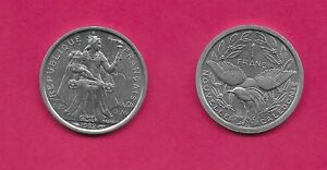 NEW CALEDONIA F.O.P 1 FRANC 1982 UNC SEATED FIGURE HOLDING TORCH  LEGEND ADDED K