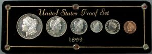 Click now to see the BUY IT NOW Price! 1899 USA SILVER CHOICE CAMEO PROOF 6 COIN ORIGINAL PROOF SET IN CUSTOM CASE