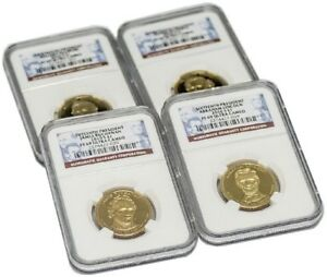 BUNDLE OF FOUR  4  13TH 16TH PRESIDENT DOLLAR COINS $1 NGC PF69 ULTRA CAMEO