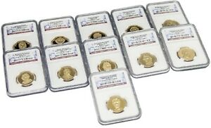 BUNDLE OF ELEVEN  11  6TH 16TH PRESIDENT DOLLAR COINS $1 NGC PF69 ULTRA CAMEO