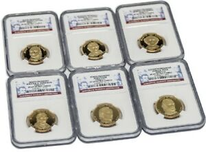 BUNDLE OF SIX  6  6TH 11TH PRESIDENT DOLLAR COINS $1 NGC PF69 ULTRA CAMEO