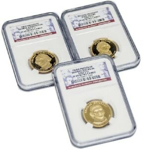 BUNDLE OF THREE  3  1ST 3RD PRESIDENT DOLLAR COINS $1 NGC PF69 ULTRA CAMEO