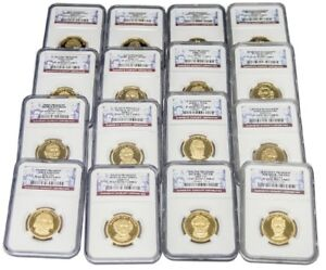 BUNDLE OF SIXTEEN  16  1ST 16TH PRESIDENT DOLLAR COINS $1 NGC PF69 ULTRA CAMEO