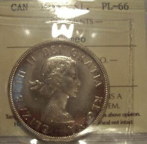 Click now to see the BUY IT NOW Price! CANADA ELIZABETH II 1954 SILVER DOLLAR   ICCS PL 66 CAMEO  XTK 300