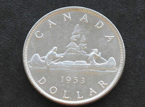 Click now to see the BUY IT NOW Price! 1953 CANADA SILVER DOLLAR ELIZABETH II CANADIAN COIN D3706