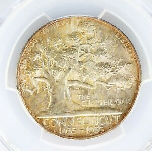 Click now to see the BUY IT NOW Price! 1935 CONNECTICUT 50C PCGS CAC CERTIFIED MS67 PREMIUM QUALITY ORIGINAL SURFACES