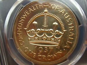 Click now to see the BUY IT NOW Price! PROOF     SUPER    1937 CROWN AUSTRALIA  PCGS PR64            A25