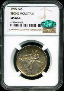 Click now to see the BUY IT NOW Price! 1925 50C STONE MOUNTAIN COMMEMORATIVE HALF DOLLAR MS66  NGC 4239464 002 CAC