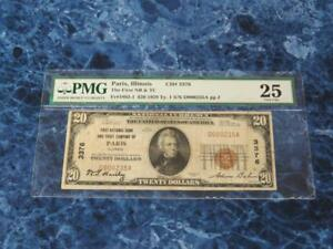 1929 TYPE 1 $20 THE FIRST NB & TC OF PARIS ILL FR1802 1 PMG VF25  LOW SERIAL