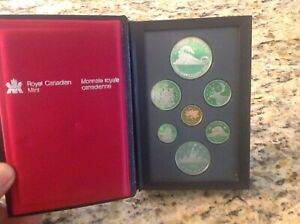 1986 ROYAL CANADIAN MINT PROOF SET 100TH ANNIVERSARY TRANSCONTINENTAL RAILROAD