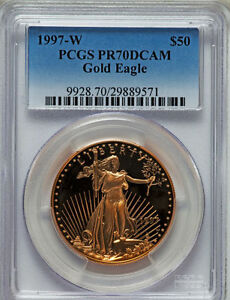 Click now to see the BUY IT NOW Price! 1997 W GOLD EAGLE SET OF FOUR COINS 1.85 OZ PCGS PF 70 PERFECT COINS