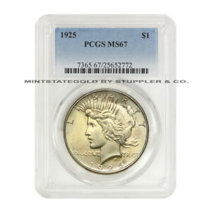Click now to see the BUY IT NOW Price! 1925 $1 PEACE PCGS MS67 GEM GRADED PHILADELPHIA SILVER DOLLAR COIN ONLY 6 HIGHER