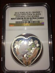 Click now to see the BUY IT NOW Price! 2012 TOKELAU SILVER $1   ENDURING LOVE   MINT ERROR PF69 UC   NGC COIN