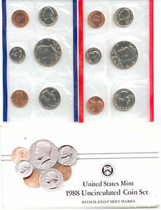 1988 US P&D MINT SET  OVER $1.5MILLION IN EBAY SALES   ZF1