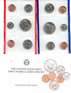 1989 US P&D MINT SET       $1.5 MILLION IN EBAY SALES    ZF1