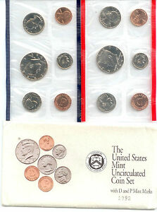 1992 US P&D MINT SET  10 COINS     $1.5 MILLION IN EBAY SALES  ZF1