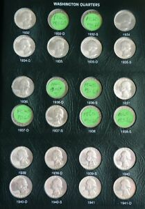Click now to see the BUY IT NOW Price!  UNCIRCULATED WASHINGTON QUARTER COLLECTION 1932 1998 CHOICE/GEM BU