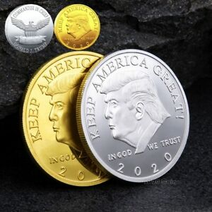 USA PRESIDENT DONALD TRUMP 2020 KEEP AMERICA GREAT SILVER&GOLD EAGLE COIN