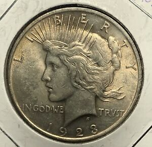 1923 PEACE SILVER DOLLAR NICE COLLECTOR COIN FOR YOUR COLLECTION.